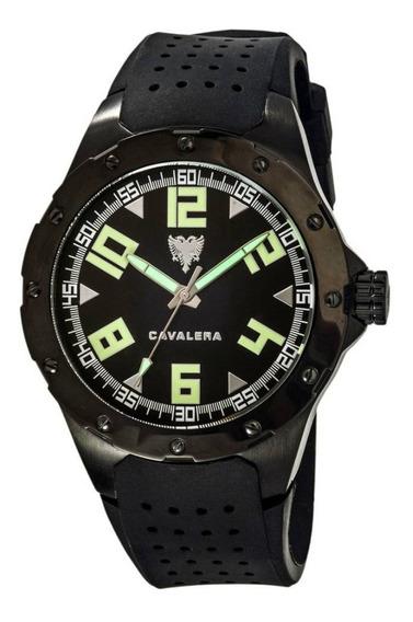Relógio De Pulso Cavalera Preto Masculino Original