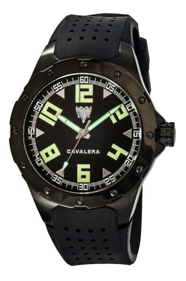 Relógio De Pulso Cavalera Cv28131 Preto Masculino Original