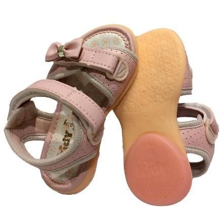 Sandalia Menina Nude Rosado Equilibrio Laço Baby Kidy 4005