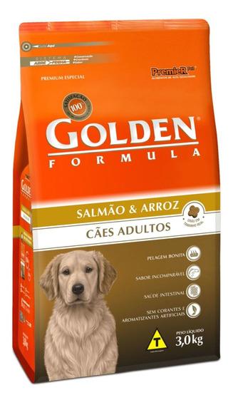 Ração Golden Formula Premium Especial cachorro adulto todos os tamanhos salmão/arroz 3kg