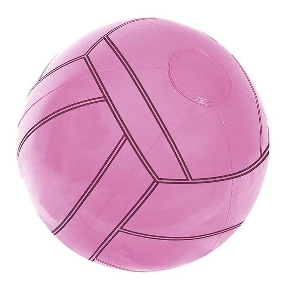 Pelota Inflable Estilo Basketball Basquetbol Rosa