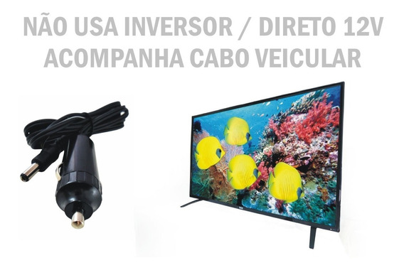 Tv 12 Volts Conversor 12v Digital 24 Pol Caminhao Carro Van