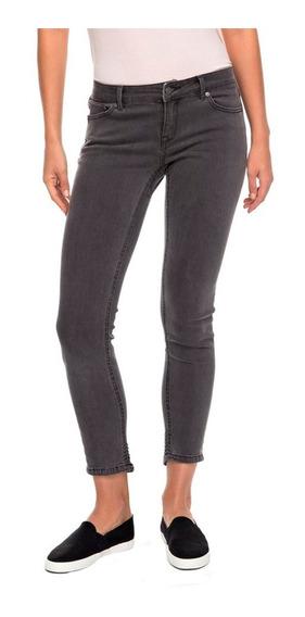 Jeans Mujer Pantalón Ajustado Detalles Sobrecosturas Roxy
