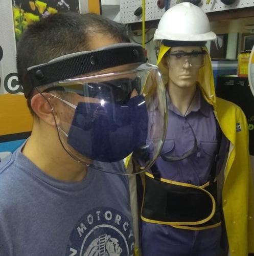 Mascara Protección Facial Acrilico Seguridad Barbijo