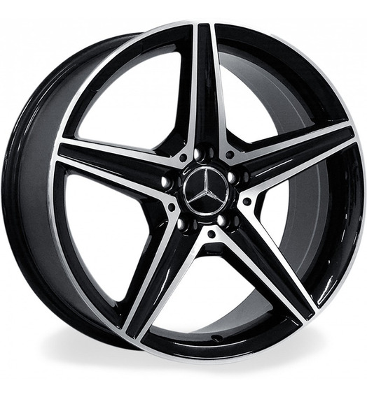 Roda Mercedes Benz C250 Amg 2.0 / Aro 18x8 Preta Diamantada