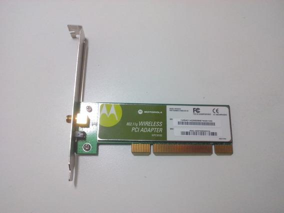 Placa Rede Sem Fio Pci 802.11g (diversos Modelos S/ Antena)