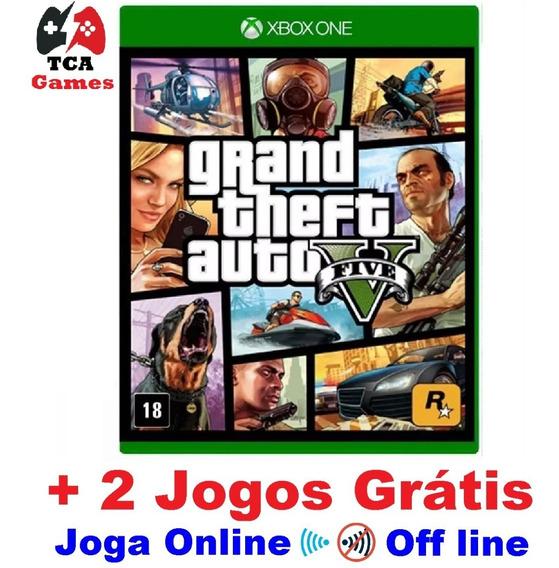 Grand Theft Auto V Gta 5 Xbox One Digital + 2 Jogos