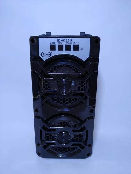 Caixa De Som Bluetooth Amplificada Portatil Mp3 Fm Usb Sd