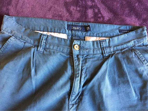 Pantalón Legacy Azul. Corte Vestir.