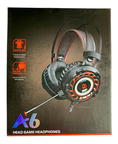 Audifonos Gamer A6 Con Microfono Pc