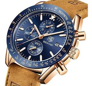 Benyar Reloj De Pulsera Para Hombre Con Cronografo Estilo Cl