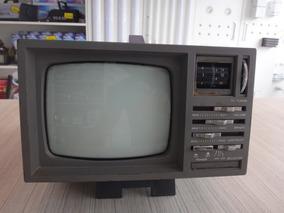 Tv Antiga Pequena Deluxe Mini E Rádio / Modelo Ct-205