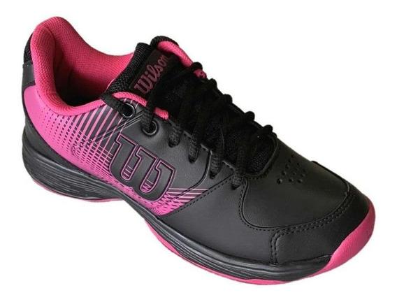 Tenis Wilson Ace Plus All Court Feminino Rosa E Preto