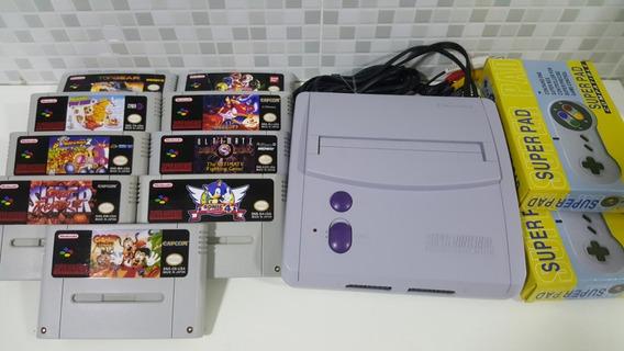 Super Nintendo Baby + 6 Jogos + 2 Controle + Frete Grátis!!