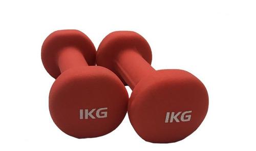 Imagen 1 de 5 de Par De Mancuernas Neoprene De 1 Kg Gym Funcional Fitness Jbh