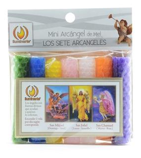 Velas Mini 7 Arcangeles De Miel