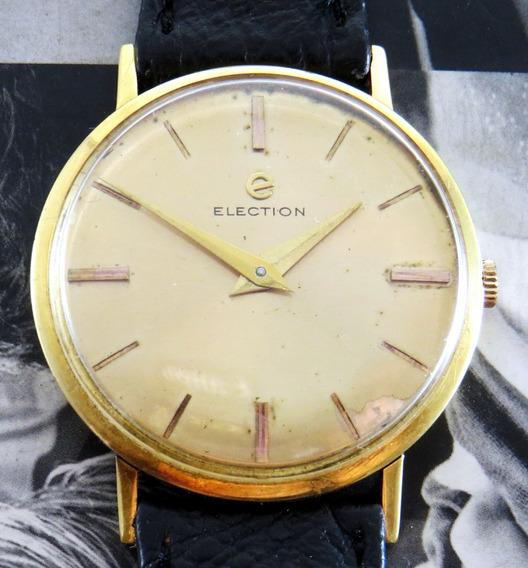 Relógio Antigo Election Social 18k Ouro Sólido Coleção
