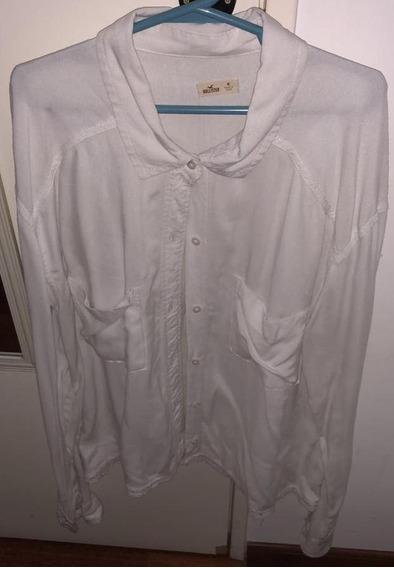 Camisa Hollister De Mujer M Blanca Original Importada!!!!!!!