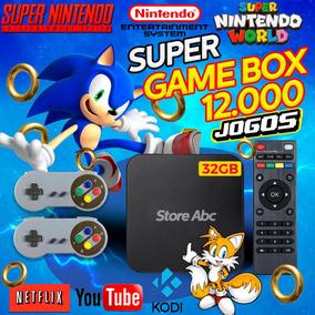 Super Game Box Retro + 12000 Jogos Com 2 Controles