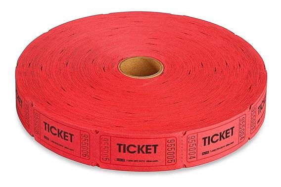 1 Rollo 2000 Boletos Rifa Rojos Envio Gratis