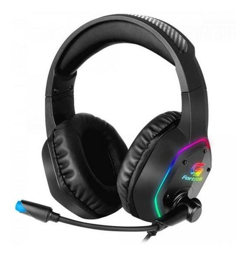 Headset Gamer Rgb Blackfire Preto Fortrek Incluso Adaptador