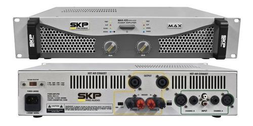 Amplificador De Potencia Skp Max 420 200w+200w Rms 4 Ohms