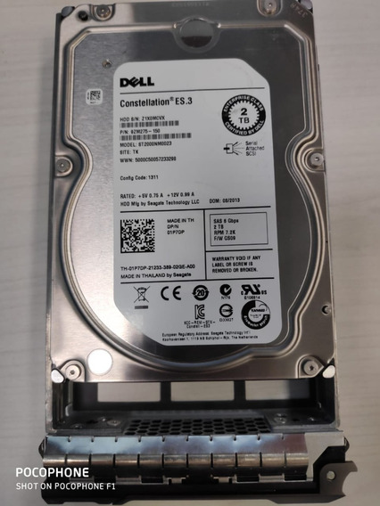 Hd Sas Dell 3.5 Constellation 2tb 7k2 St2000nm0023 C/gaveta