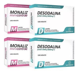Kit 2 Desodalina 600mg - 60 Cápsulas +2 Monaliz 30 Comp