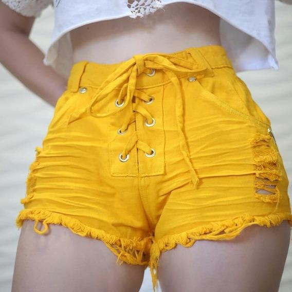 Short Jeans Com Amarração Frontal Detonadinho