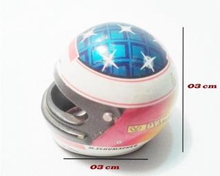 Capacete Miniatura Metal 05 X 04 Cm Michael Schumacher 1995
