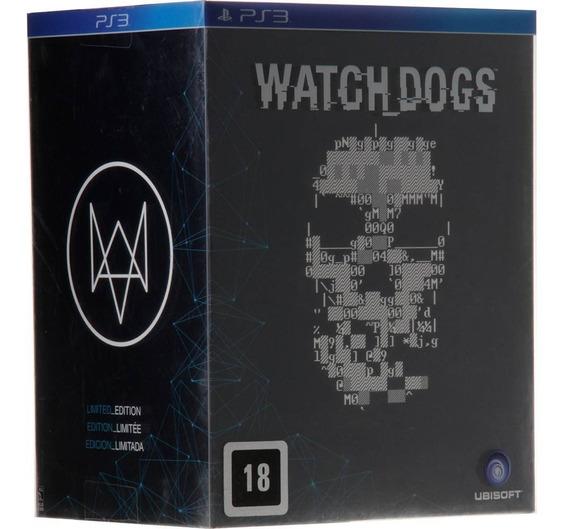 Watch Dogs Ps3 Kit Colecionador Jogo Livro Boneco