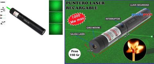 Imagen 1 de 4 de Puntero Laser Potente, Alta Potencia Largo Alcance Completo