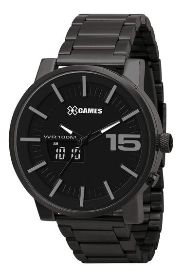 Relógio X-games Masculino Anadigi Xmssa001 P2px Negativo