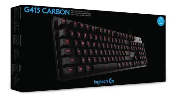 Teclado Gamer Logitech G413 Mecanico Carbon Romer-g Lacrado