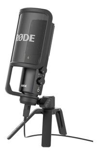 Micrófono con accesorios Rode NT-USB condensador cardioide negro