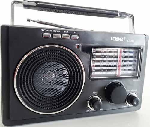 Radio Am/fm/sw Retrô Preto Usb E Cartão Pendrive Mp3 Bivolt