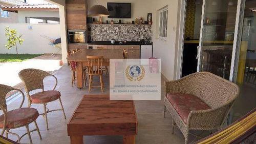 Casa Com 3 Dormitórios À Venda, 265 M² Por R$ 1.330.000,00 - Parque Brasil 500 - Paulínia/sp - Ca0252