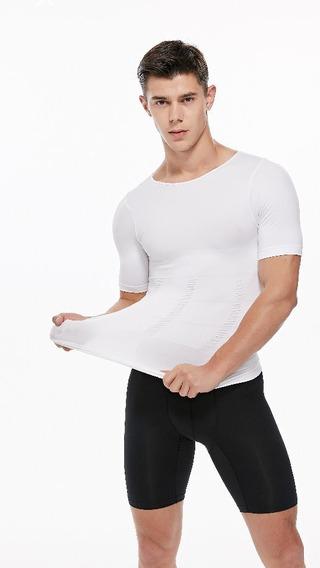 Camiseta Manga Corta Faja Reductotra Moldeadora Deportiva