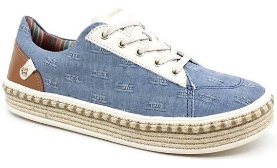 Tênis Cravo & Canela 163101 Espadrille Azul Jeans