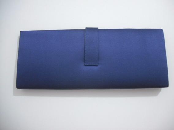 Bolsa Clutch Festa Azul 30 X 12 Usado Bom Estado