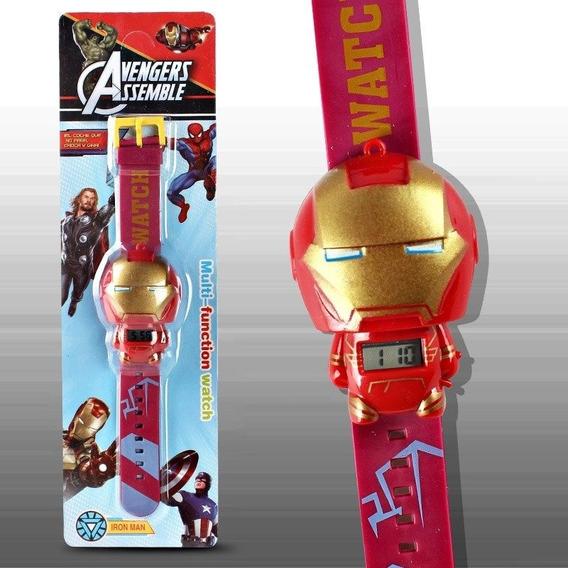 Relógio Digital Infantil Vingadores Spiderman Hulk Criança