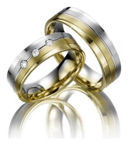 Alianças De Casamento Vida Eterna Em Ouro 18k E Diamantes