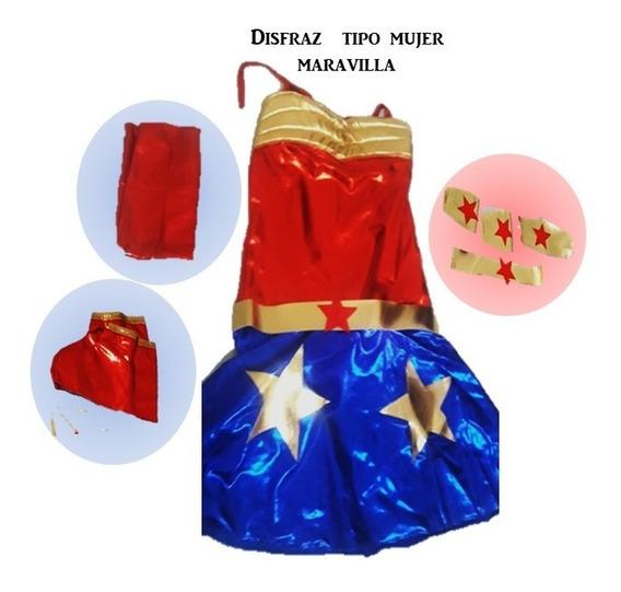Disfras Tipo Mujer Maravilla (super Woman)