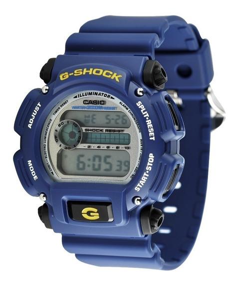 Relogio Casio G-shock Dw-9052 Azul Wr 200 Cronometro Nfe