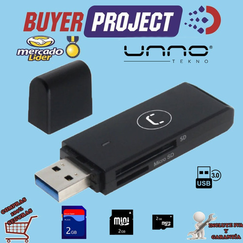 Lector De Memorias Unno Card Reader Usb 3.0 Externo Multiple