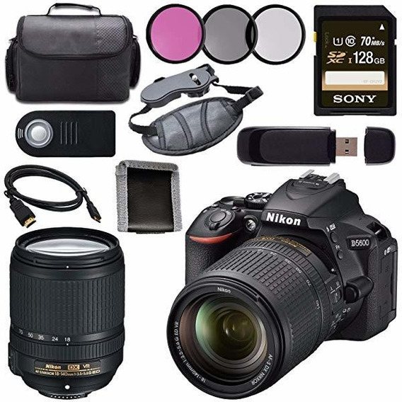 Camara Nikon D5600 Dslr 18-140mm Lente Black 1577 + Sony 1 ®