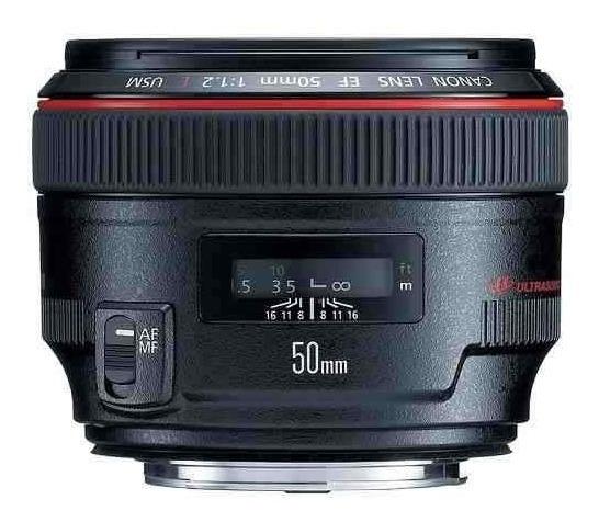 Lente Profissional Canon Ef 50mm F/1.2l Usm