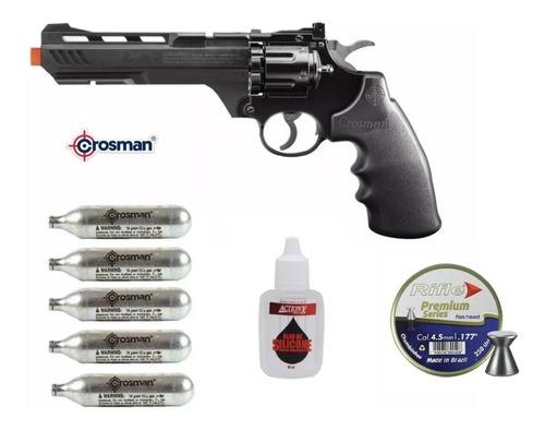 Imagem 1 de 6 de Revólver Co2 Crosman Vigilante 4,5mm Chumbinhos Ou Esferas