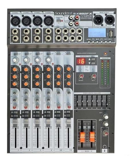 Mesa De Som Soundcraft Sx802fx 8 Canais Usb Original