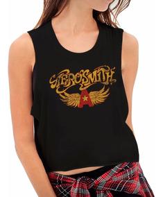 Tops Estampados Personalizados Aerosmith Mujer
